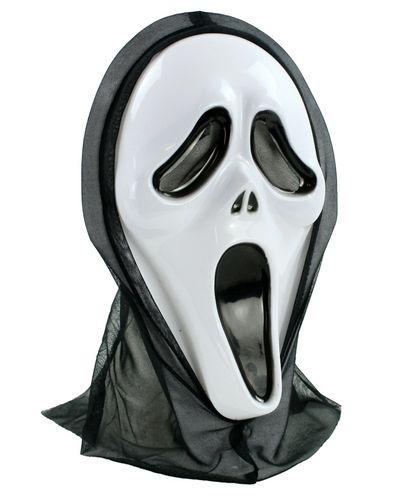 heinemann Masken Maske Screaming Ghost Geist mit Haube NEU Faschingsmaske Karneval