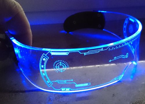 CT cool light Leuchtbrille LED Multicolor Licht Blink Brille 7 Stunden Akku USB